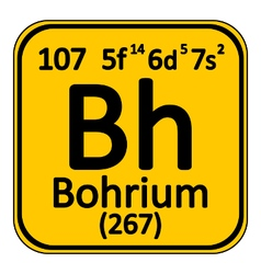 Periodic table element bohrium icon vector image