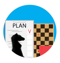 plan icon vector image