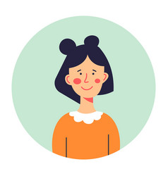 Portrait cute teenage girl or schoolkid vector