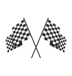 Racing flag avto symbol vector image