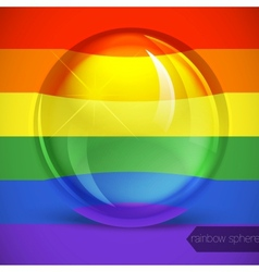 Rainbow sphere vector image
