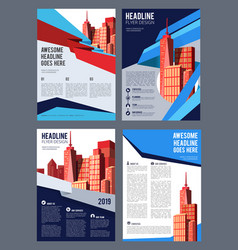 Real estate brochure flyer magazine cover vector