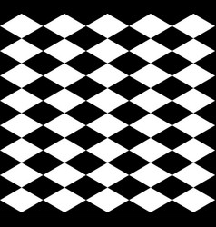 rhombus chess background in black and white vector image
