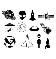 Sci-fi icons vector