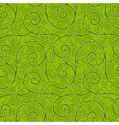 Seamless abstract liana twisted tendril background vector image