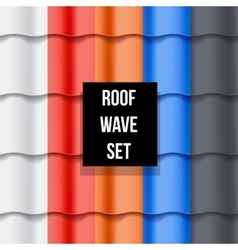 Set of Tiled roof seamless patterns vector
