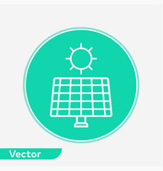 solar panel icon sign symbol vector image