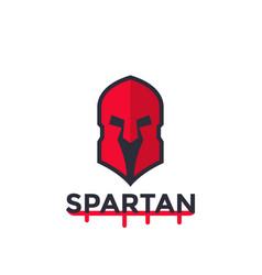spartan helmet logo concept vector image