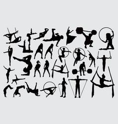 sport activity silhouette vector image