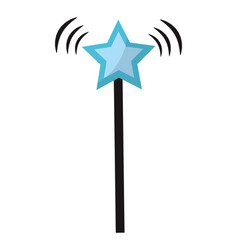 star magic wand stick style vector image