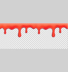 strawberry jam dripping melted red syrup vector image