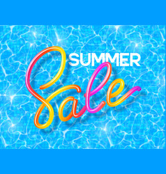 Summer sale banner with handwritten calligraphy vector