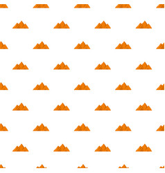 Top of mountain pattern seamless vector