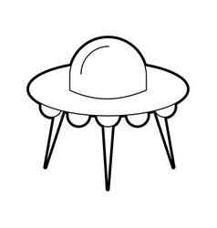 ufo flying saucer technology science transport vector image