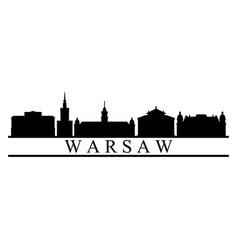 warsaw skyline vector image