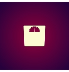 weighting icon Flat design style vector image