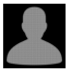 white halftone user icon vector image