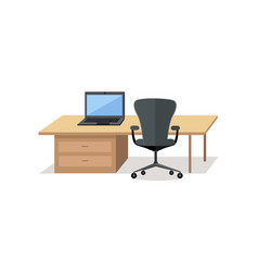 workplace empty isolated design office interior vector image