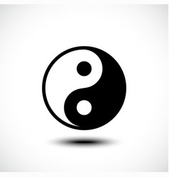 ying yang symbol harmony and balance on white vector image
