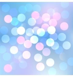 blue bokeh lights vector image