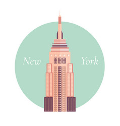 empire state building vector image