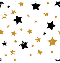 gold star pattern vector image