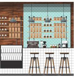 modern coffee shop vector image vector image
