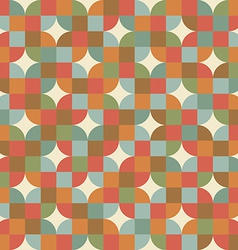 Seamless mosaic tiles pattern in retro style vector image vector image