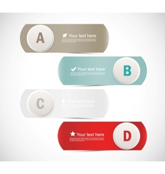 Abstract banners with circles vector image