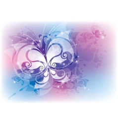 abstract with butterfly vector image vector image