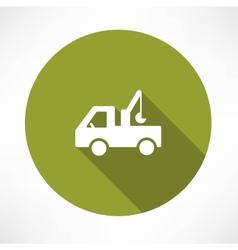 car with a crane icon vector image vector image