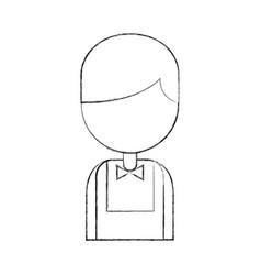 casino dealer avatar character vector image
