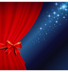 curtains bow blue vector image