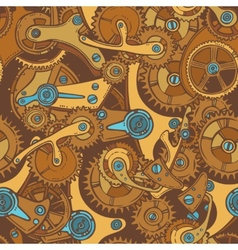 Engineers sketch seamless pattern color vector image