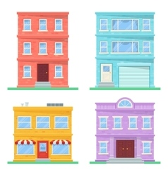 Flat building icons vector image