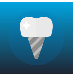 flat health care dentist tooth implant research vector image vector image