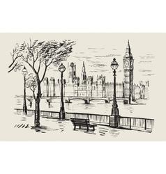 hand-drawn London vector image