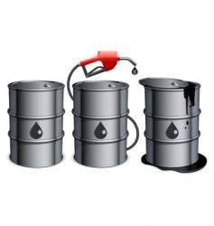 oil barrels vector image