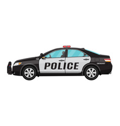 police car side view isolated on white vector image