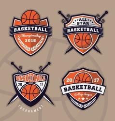 Set of basketball logo design for apparel vector image vector image
