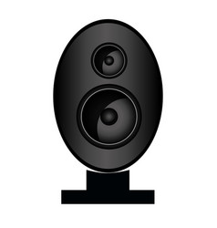 speaker bass icon vector image