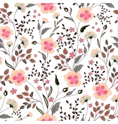 cute little pink flowers seamless pattern vector image