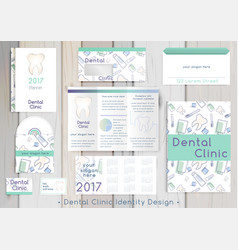 dental clinic corporate identity template vector image vector image