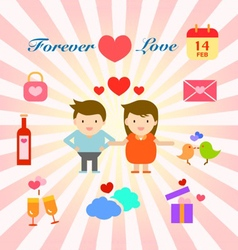 happy and lovely couple and family info graphic vector image