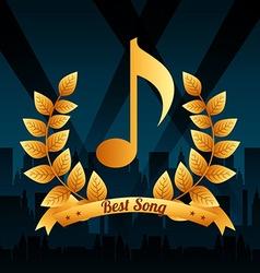 Music award design vector