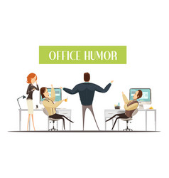 Office humor cartoon style vector