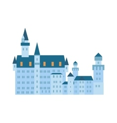 Scenic medieval city walls castle old tower vector image