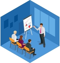 Training concept business man Flat design vector image vector image