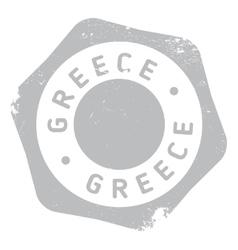 Greece stamp rubber grunge vector image
