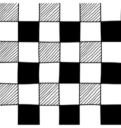 Hand drawn abstract chessboard pattern vector image